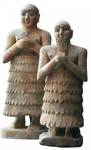 Sumeria. Tipos de indumentaria, tocados y peinados. Eventos y formas religiosas.