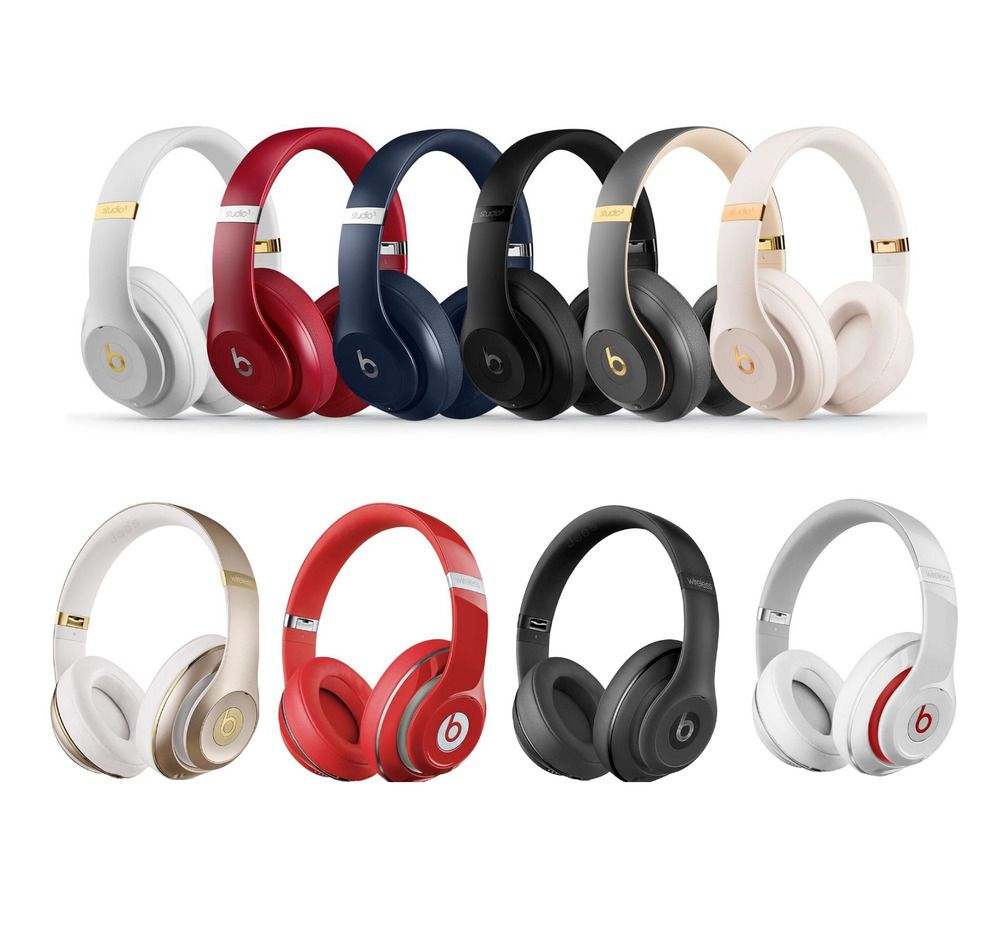 Beats By Dre Studio 3 Wireless Over Ear Headphones Matte Black Defiant Red Red In 2020 Over Ear Headphones Headphones Black Headphones