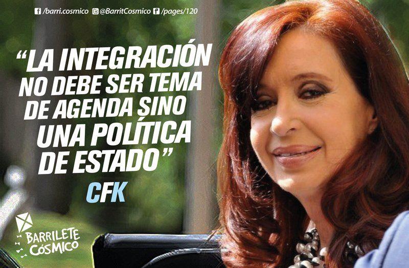 #IntegraciónRegional   #CFK #Cristina #LAPresidenta #LaJefa #Militancia #Argentina #PatriaGrande #Latinoamérica #AméricaLatina #AméricaLatinayelCaribe #Iberoamérica #Sudamerica #LaPatriaEsElOtro #UnidosyOrganizados #MovimientoNacionalyPopular