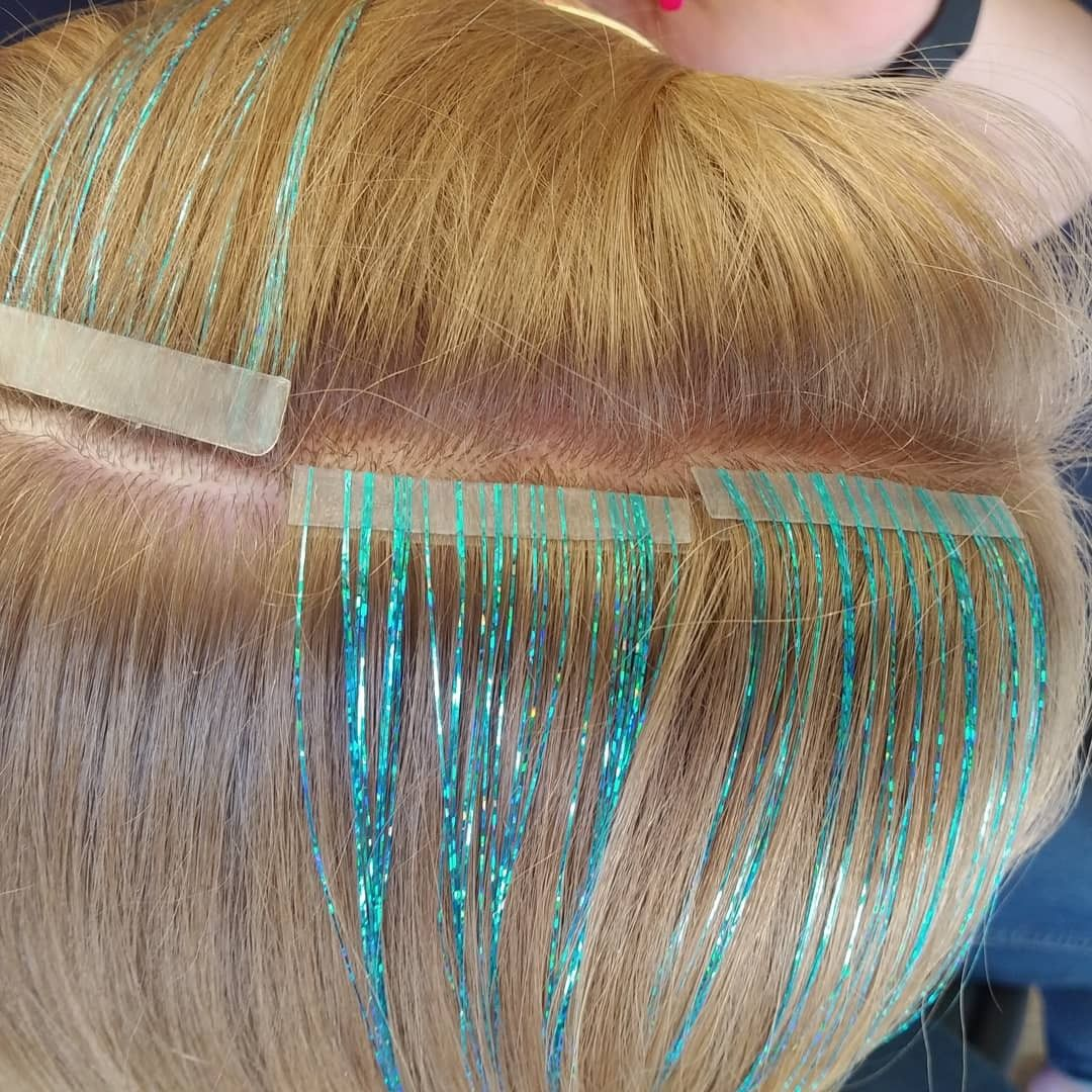 Instatinsel tapein hair extensions
