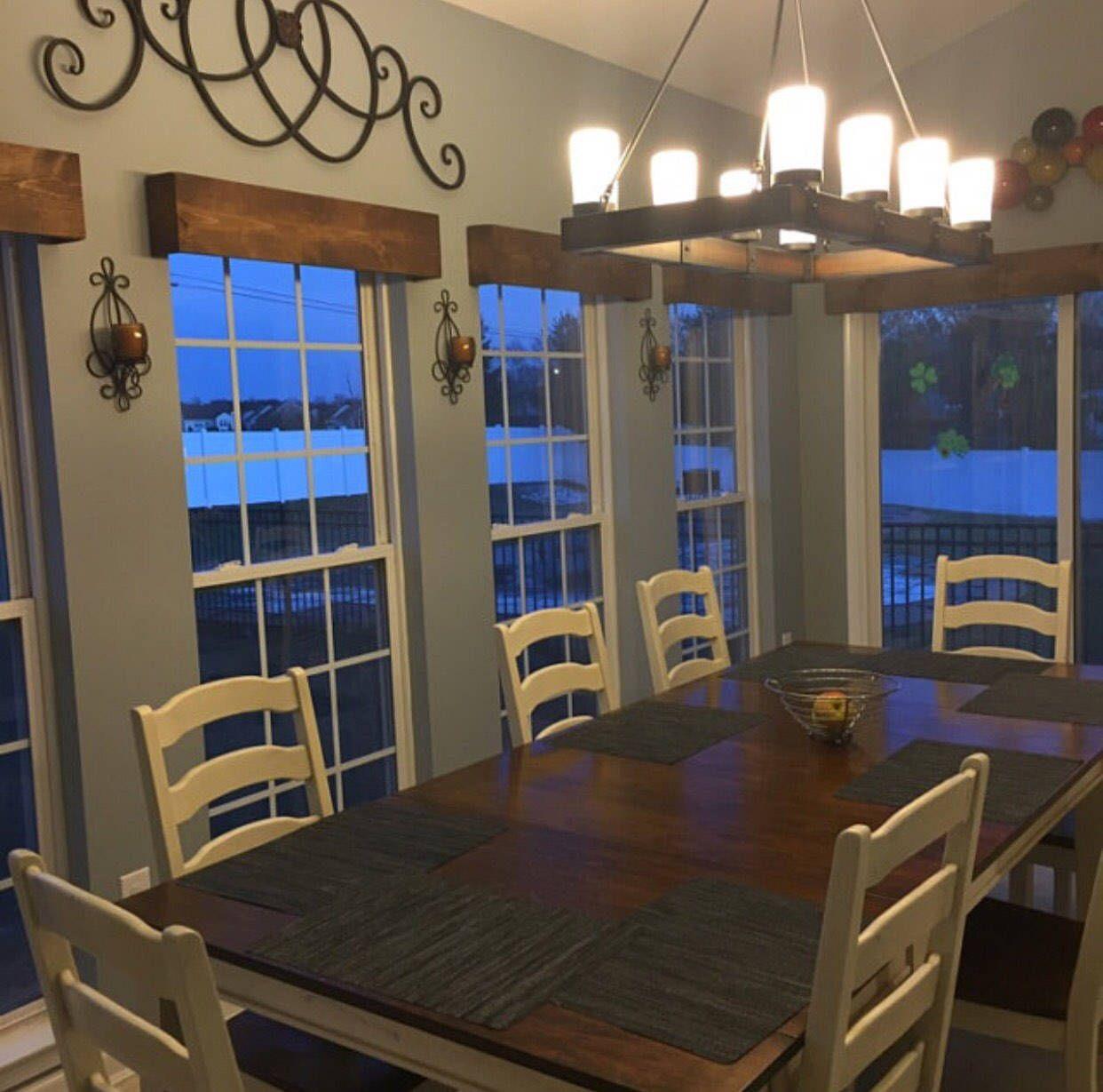 Window Valance Rustic Wood Cornice Curtain Custom Sized