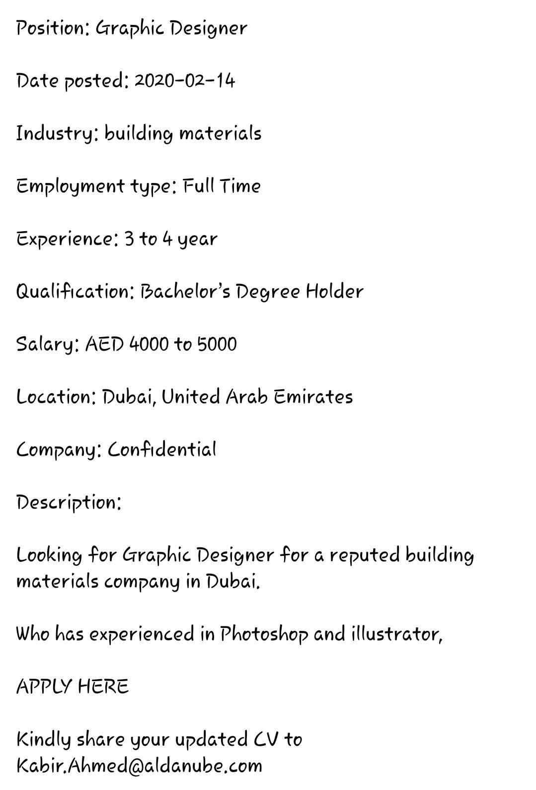 Graphic Designer Job In Uae Https Ift Tt 2sj4yme In 2020 Graphic Designer Job Graphic Design Job