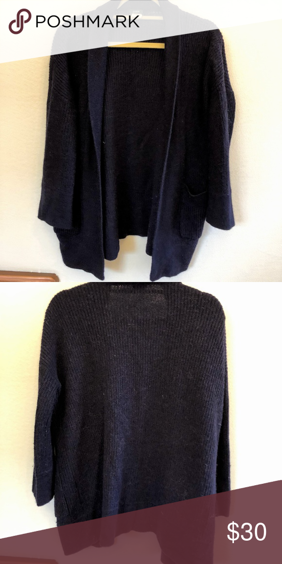 J.Crew Navy Open Cardigan Excellent used condition Materials  45% acrylic 0f9770948