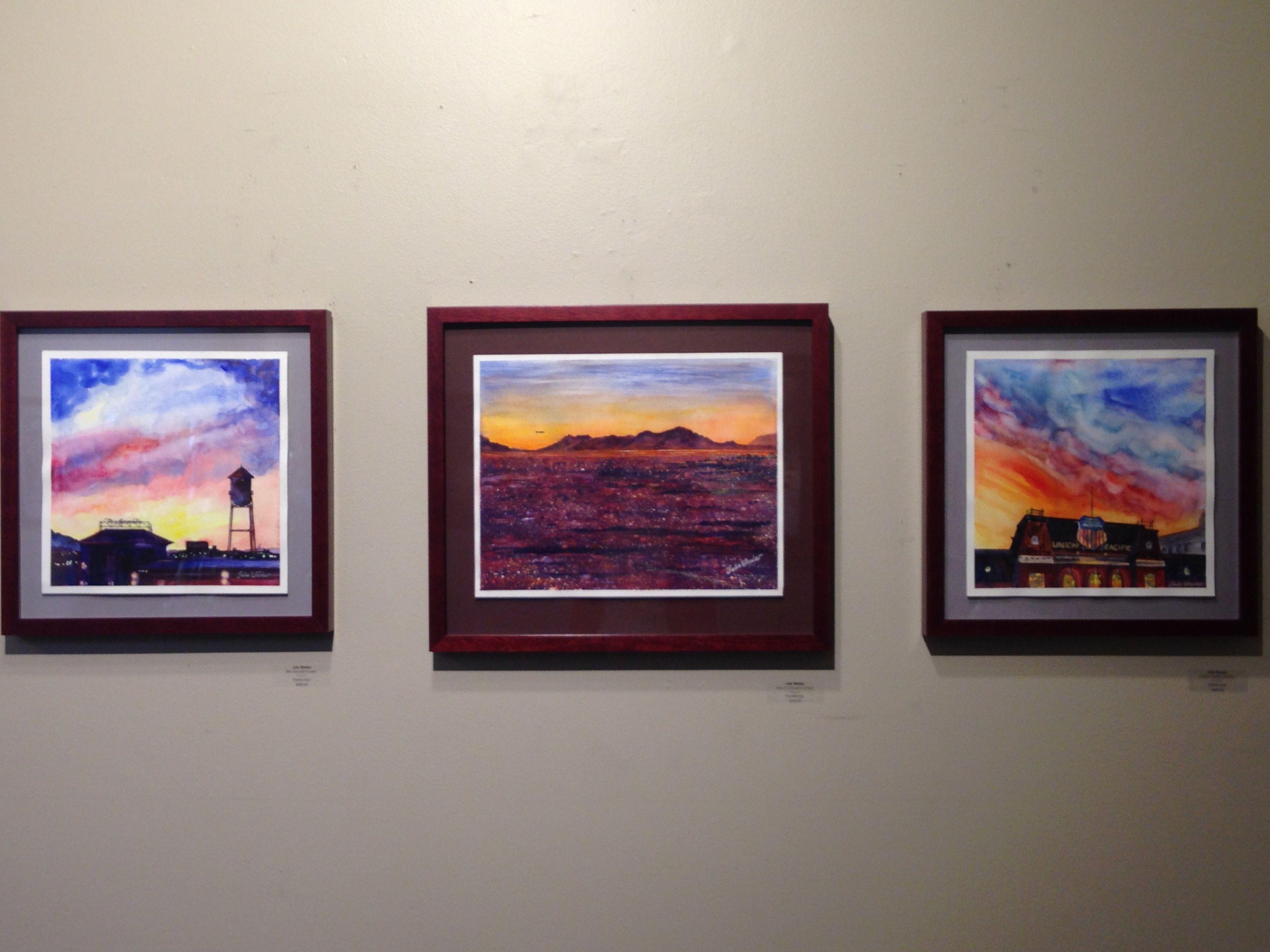 Original watercolor art for sale - Three Of My Original Watercolor Paintings Framed By Alpine Art In Salt Lake City Utah