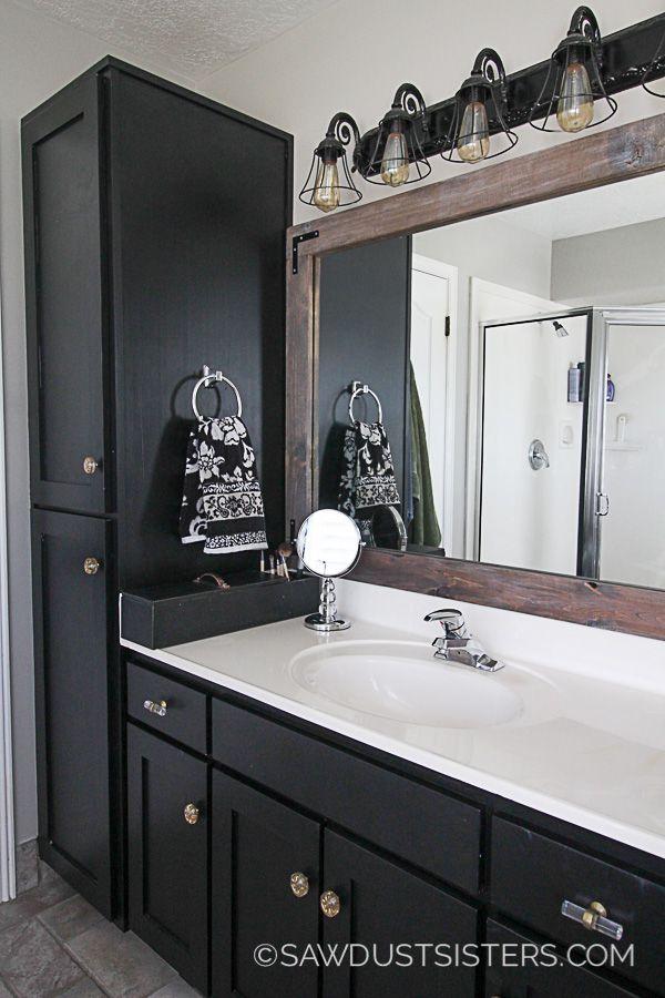 master bath update sleek black vanity makeover black on home inspirations this year the perfect dream bathrooms diy bathroom ideas id=65033