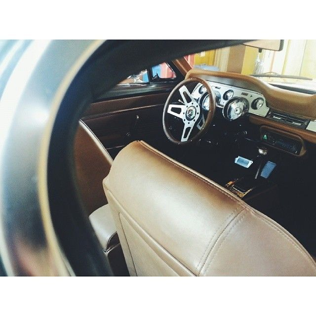 mustang interior brown fastback visit seats grey custom colors