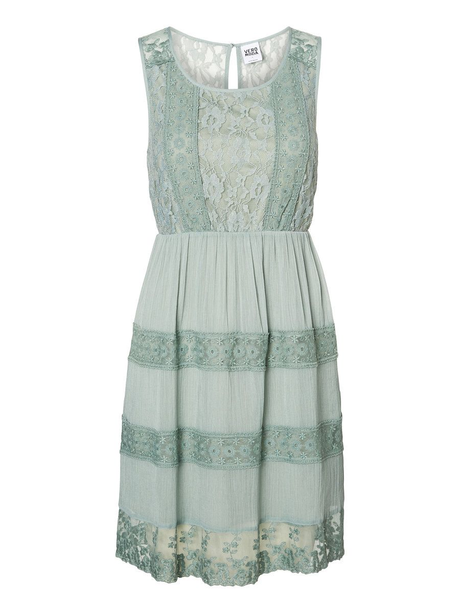 LACED SHORT DRESS, Jadeite | Ide gaderob | Pinterest | Vero moda