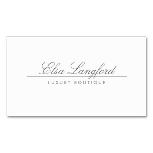 Modern white luxury boutique business card make your own business modern white luxury boutique business card make your own business card with this great design reheart Choice Image