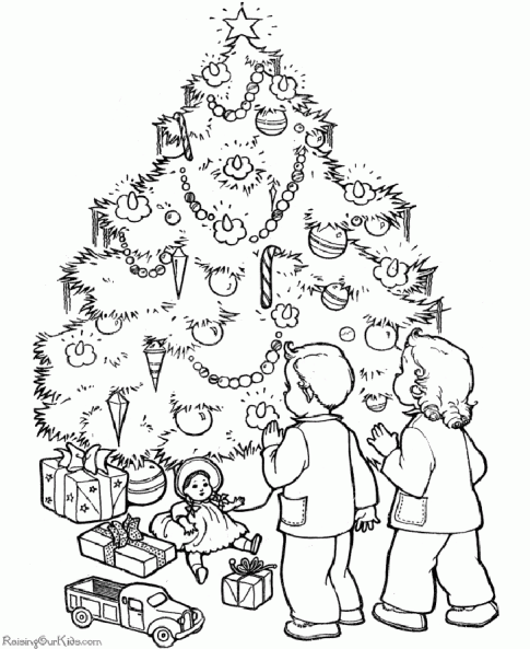 christmas tree coloring pages picture 2 - Coloring Pictures Of Christmas Trees 2