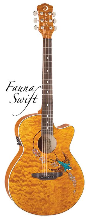 Fauna Swift Folk-the bird and the color of this guitar works really well together.