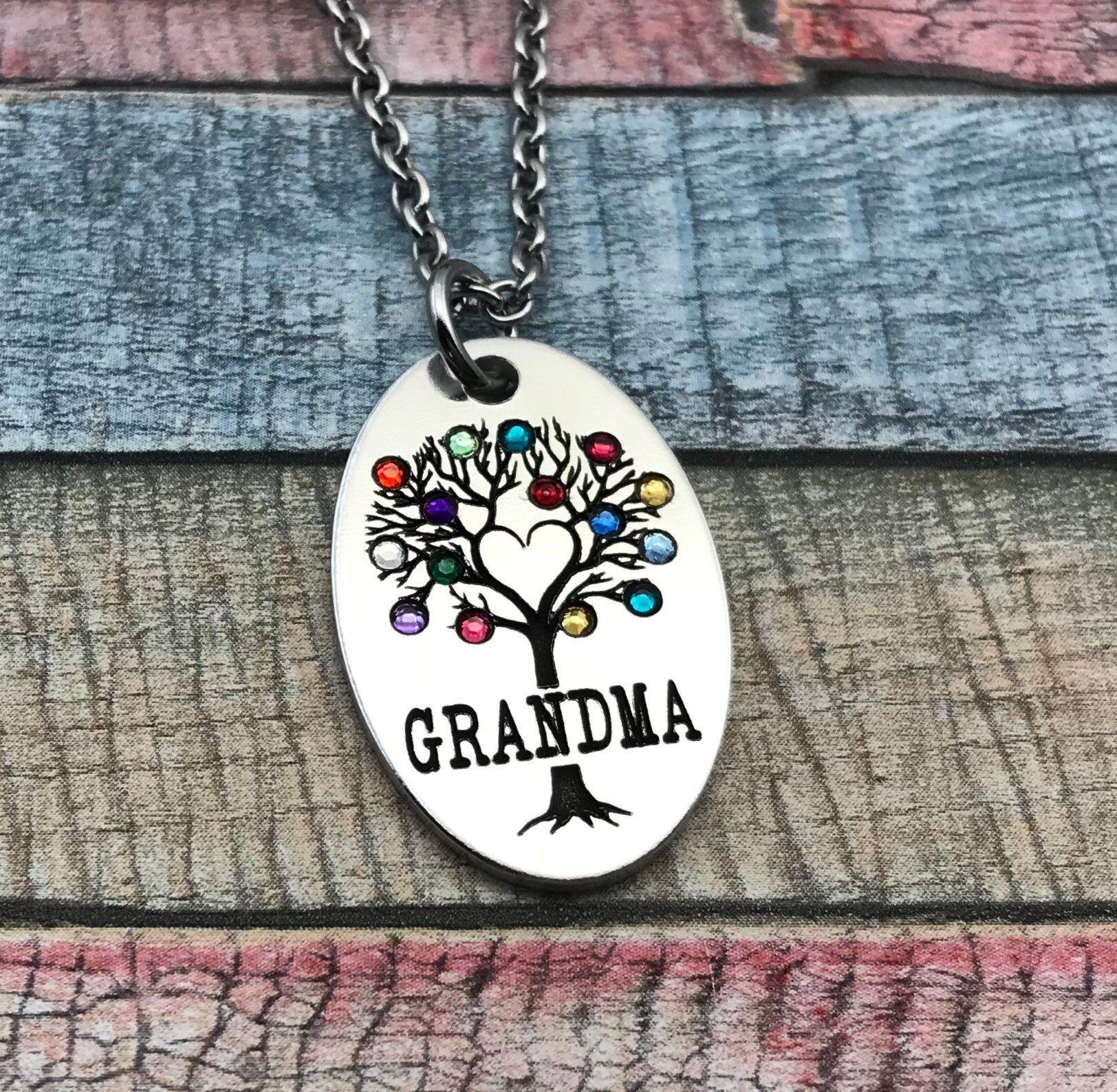 Custom gift for grandma mothers day jewelry nana gift