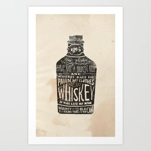 Whiskey Art Print by Jon Contino