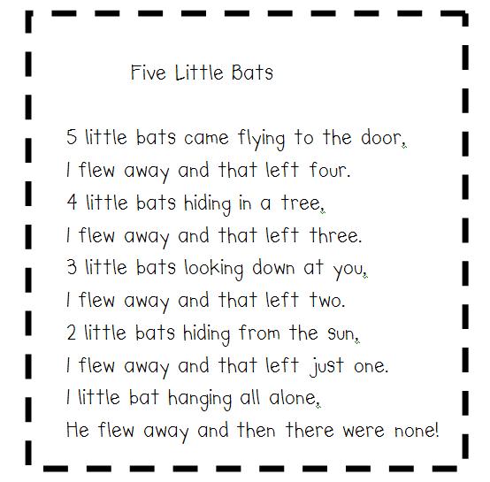 can do kinders bat wings and rhyming things halloween poems for kids halloween craftsholidays halloweenpreschool songspreschool - Halloween Song For Preschool