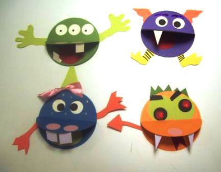 paper monsters kids craft project - Pictures Of Crafts For Kids