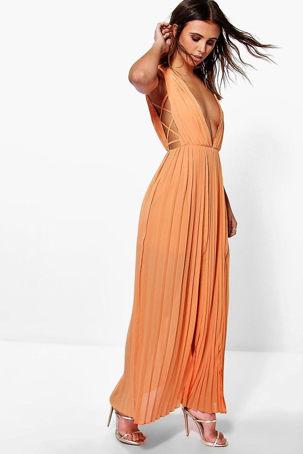 b9e0402f5bb5 Petite Mel All Over Pleated Strappy Side Maxi Dress | Hmmmm...Would ...