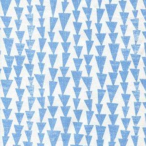 Gardine - hellblaue Dreiecke Lotta Jansdotter