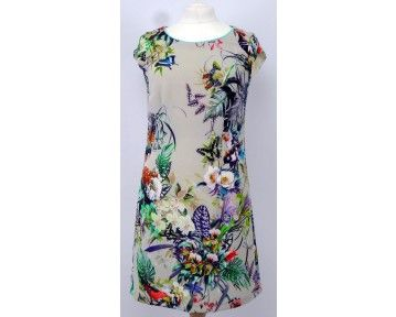 Beautiful coloured butterfly pattern dress. Now only in a 10 and 14 at www.middleetonwood.co.uk