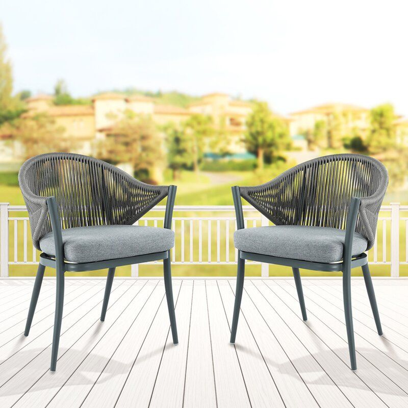 Zofia Patio Dining Chair Rattan Outdoor Chairs Outdoor Dining