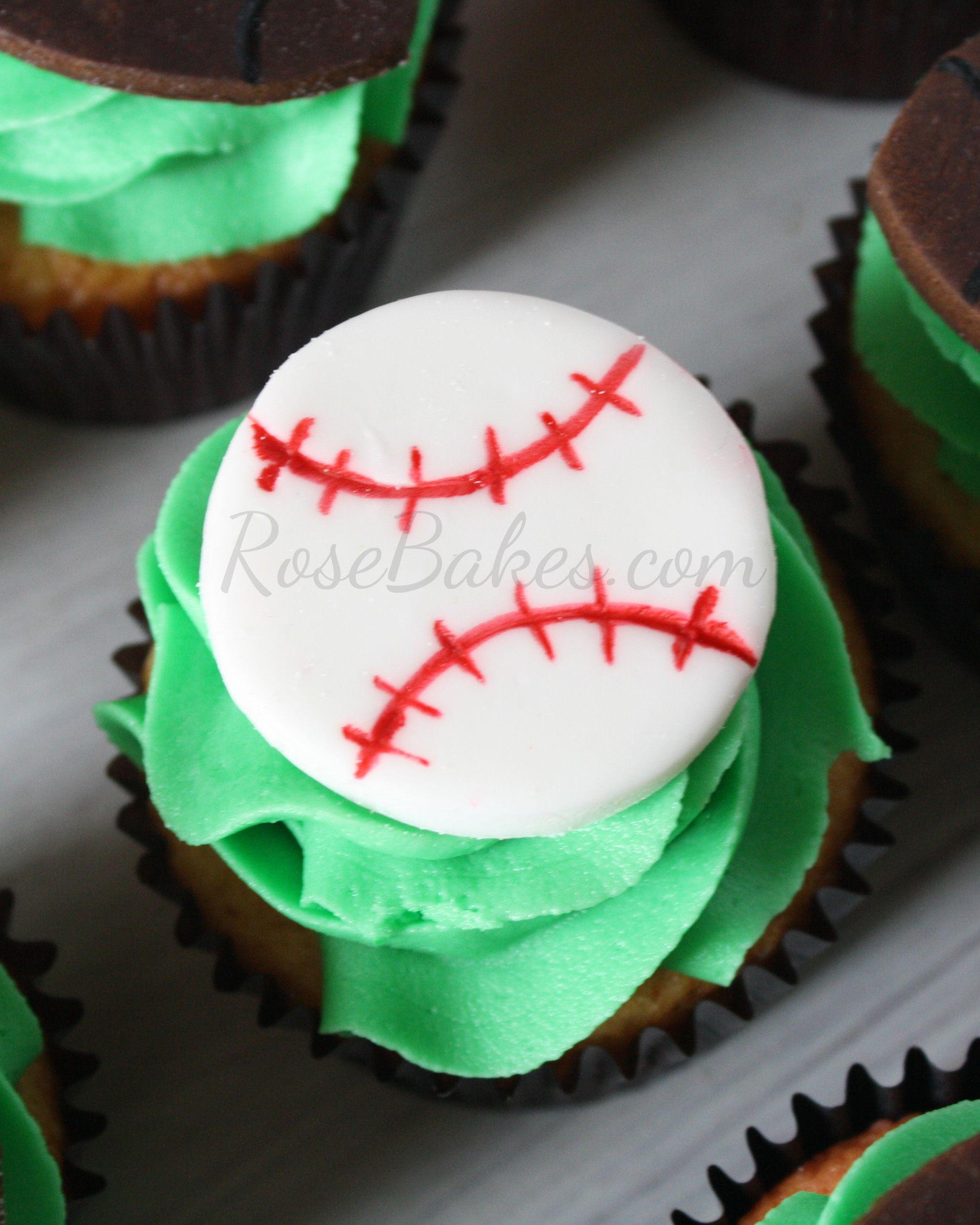 How to Make Easy Baseball and Football Cupcake Toppers