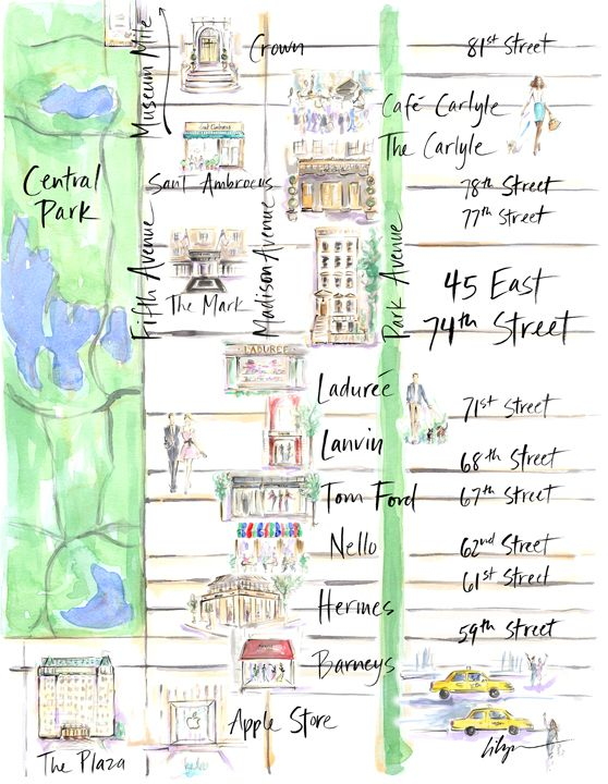 Upper East Side map for Mr Gatsby Scenes n Things Pinterest