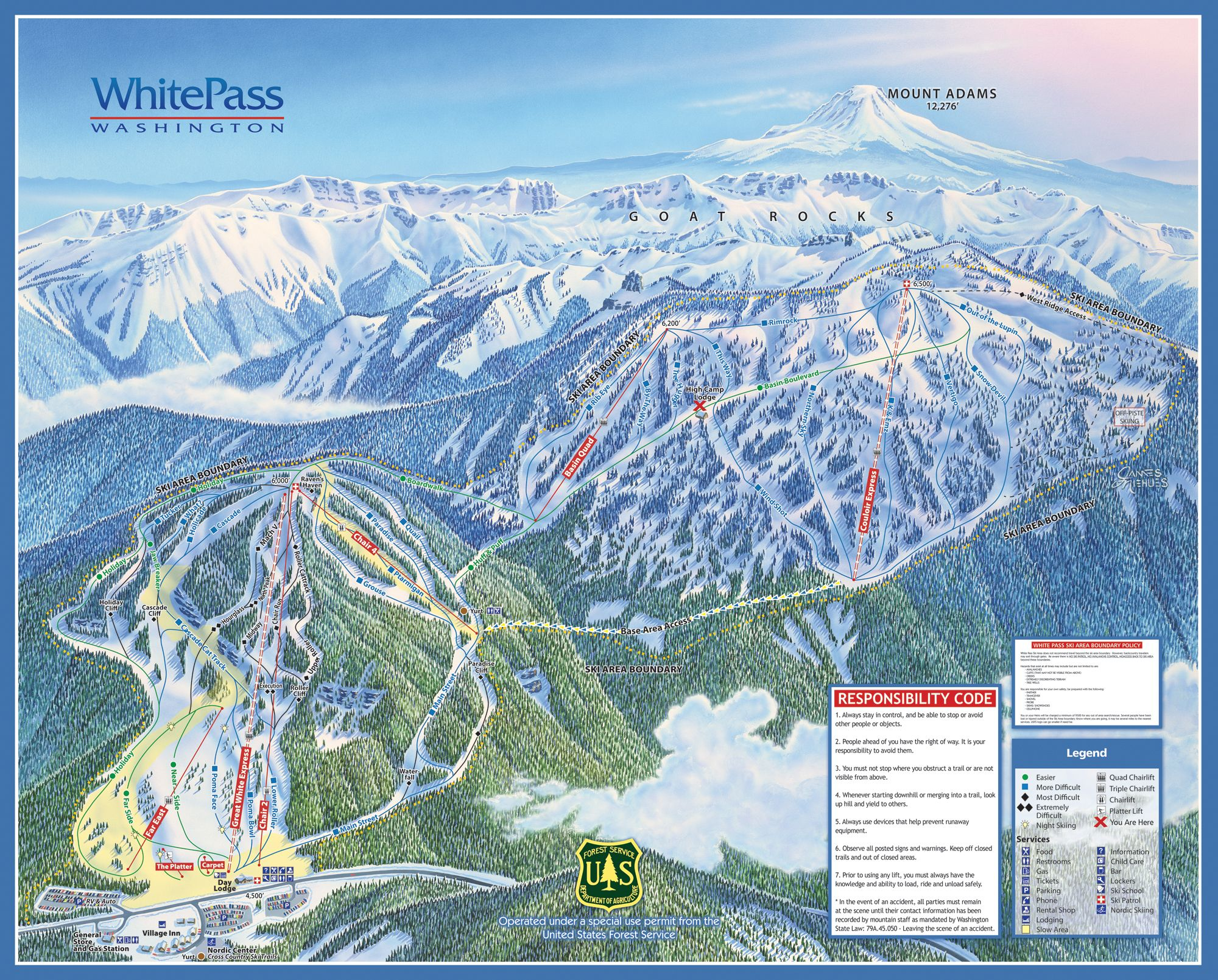 ski washington state map White Pass Wa Last Time I Was There Only The Mountain On The