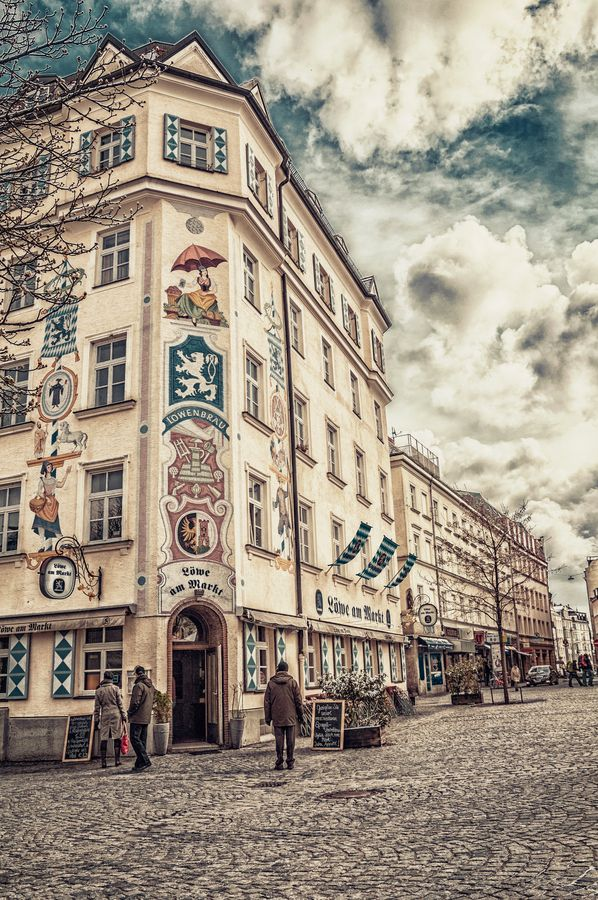 """Löwenbräu (""""lion's brew"""") was founded around 1383. Because only beers that are brewed in Munich are permitted to be sold at Oktoberfest, Löwenbräu is one of only six breweries represented, along with Augustinerbräu, Hofbräuhaus, Hacker-Pschorr, Paulaner, and Spaten."""