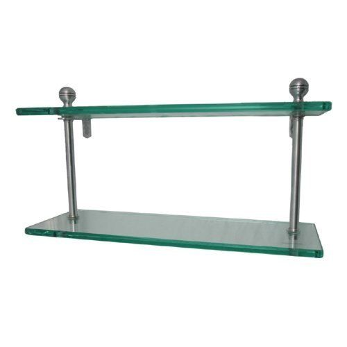 Ma 2 Style 22 Quot Double Glass Shelf Antique Pewter By