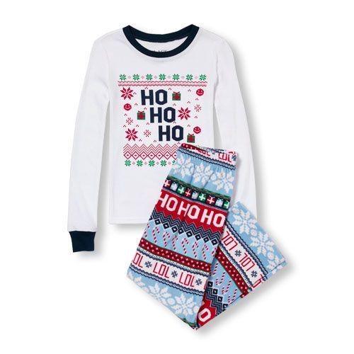 Baby Boys Unisex Long Sleeve 'Ho Ho Ho' Top And Fair Isle Print ...