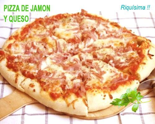 Pizza Casera De Jamón Y Queso Mozzarella Delicious Pizza Cooking Recipes Recipes