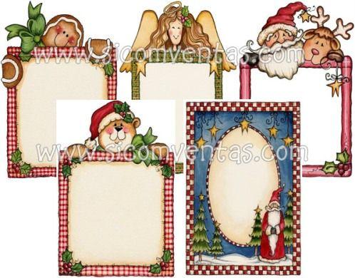 Marcos para tarjetas de navidad nocturnar navidad - Tarjetas con motivos navidenos ...