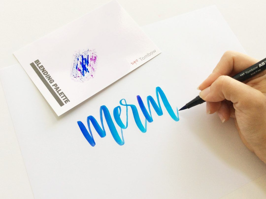Brush calligraphy blending techniques tombow bugaboo