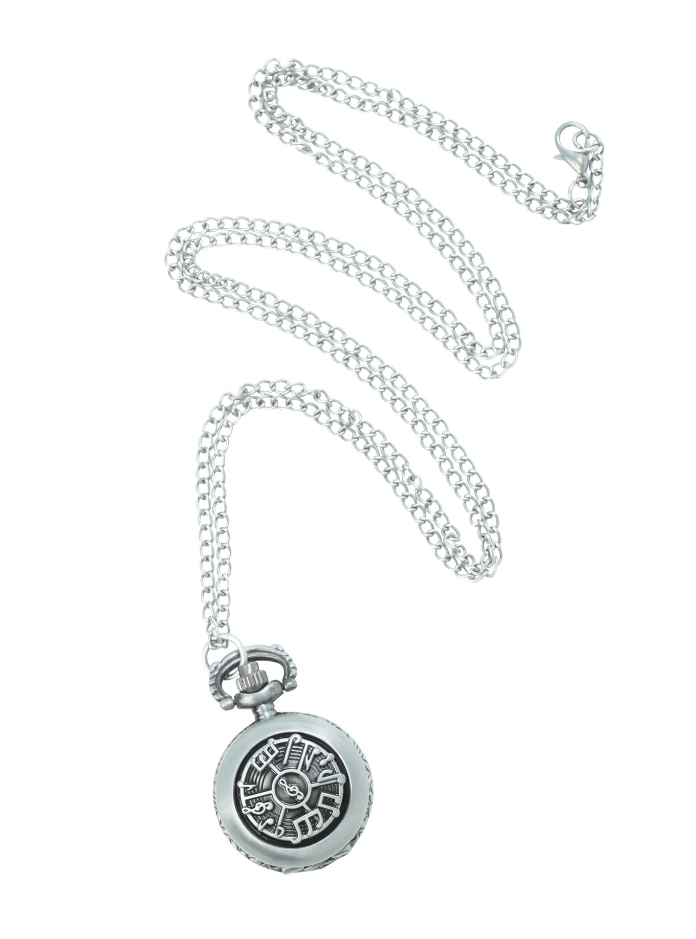 LOVEsick Music Note Pocket Watch Necklace   Hot Topic
