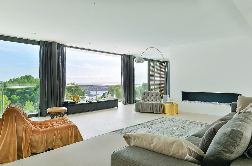 Living Room Decor Idea Ibiza Villa Rent Luxury Interior Modern ...