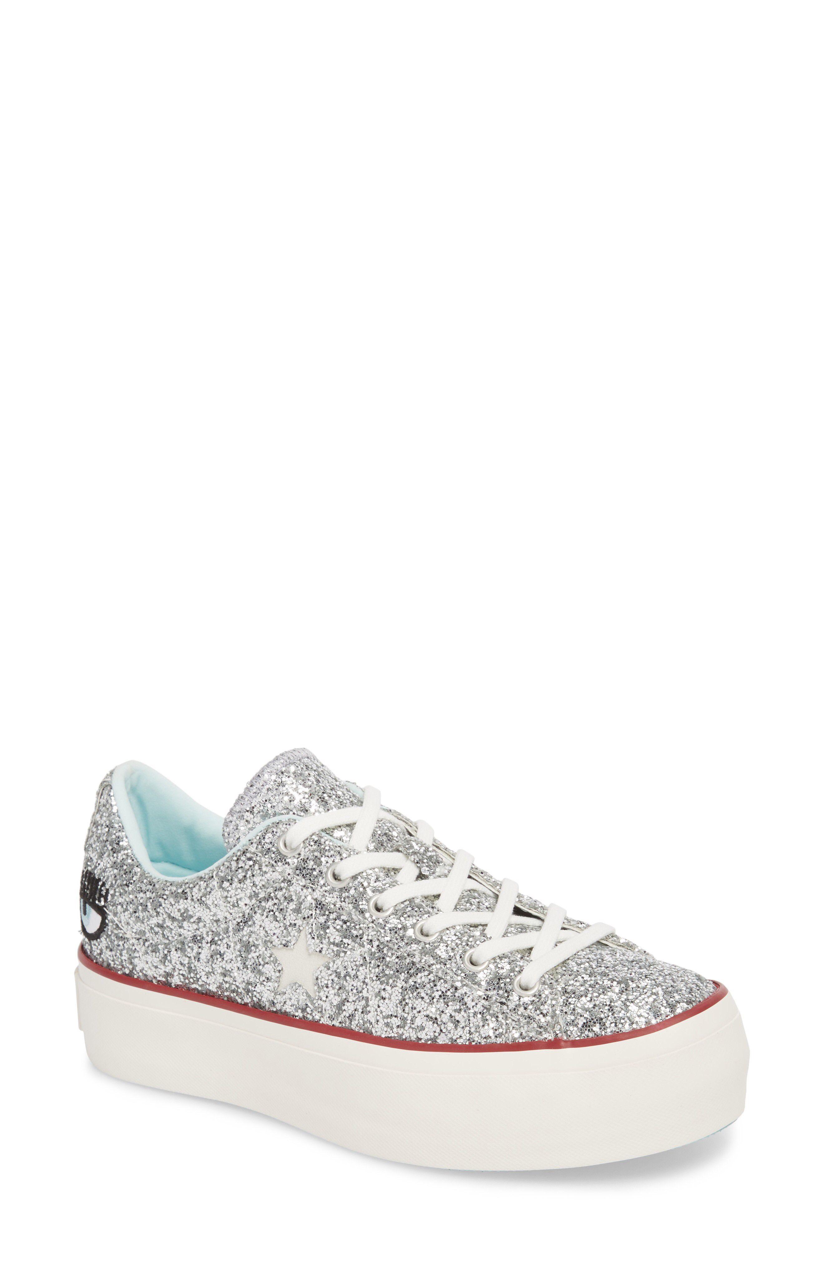 6156e7921e6cf1 Converse x Chiara Ferragni One Star Glitter Platform Sneaker available at   Nordstrom