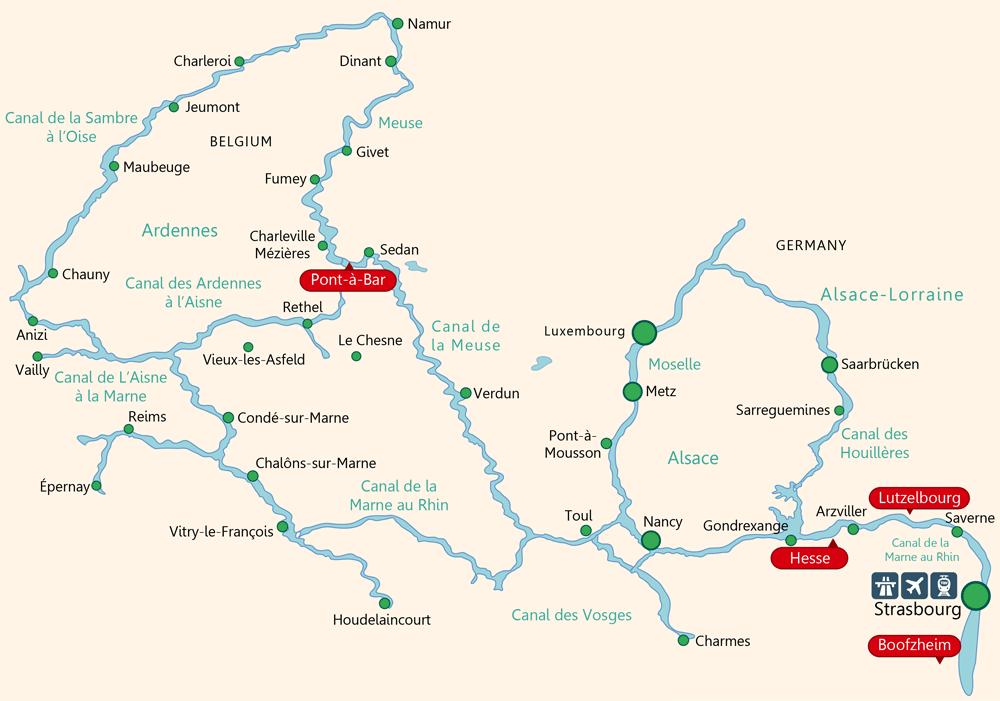 Cruising Route Through Alsace Strasbourg Saverne Arzviller Nancy