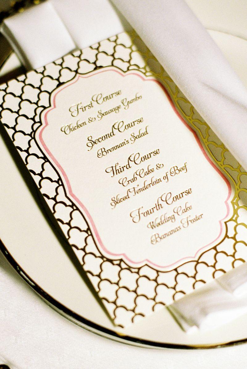 Custom designed menu Houston Invitation Service / www.keelythorne ...