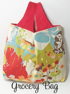 wide-strap grocery bag pattern