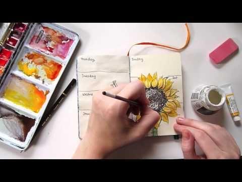 Speed Painting - Sketchbook Journal (Sunflower)
