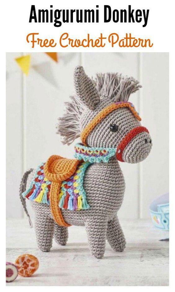 Little Amigurumi Donkey Free Crochet Pattern   Amigurumi = Fun ...