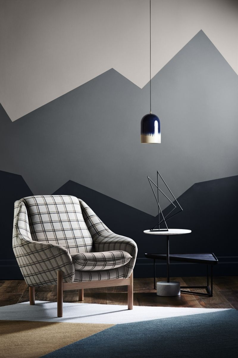 Dulux Winter 2015 Colour Trends Tips For Using Paint Colour In Your Home The Sustainable Home Hub Living Room Paint Geometric Wall Paint Bedroom Wall