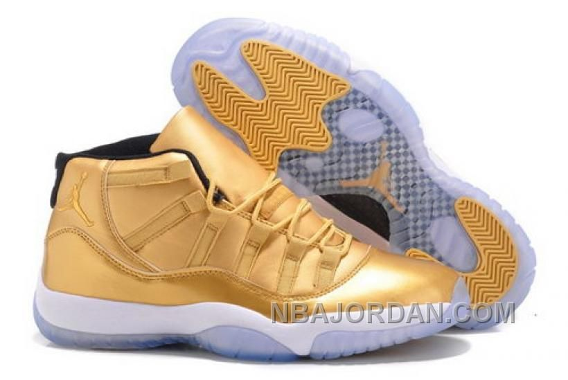Air Jordan Retro 11 Xi Nike Mens Shoes New Releases Gold White Hot New