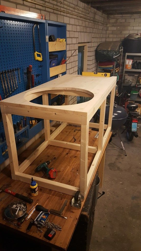 Diy Folding Table For Weber Grill Diy And Crafts 2018 T