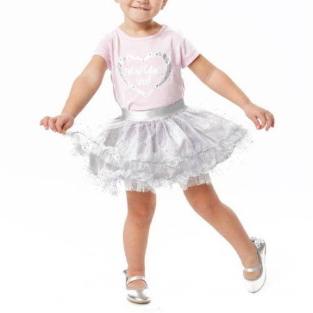 Only Girls Birthday Girl Top And Tutu Set, Size: Small, Pink