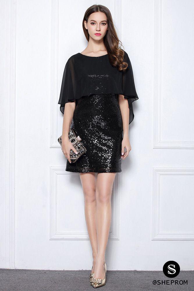 8101e6dc6f3 Little Black Sequins Short Cocktail Party Dress -  63  DK378 ...