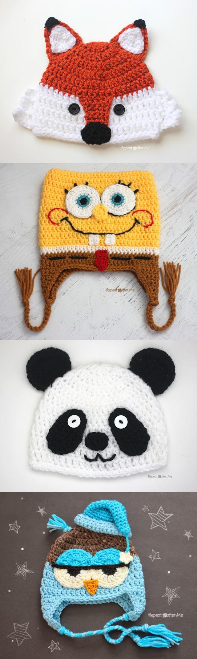 Вязание шапочек крючком,спицами | Gorros, Tejido y Gorros niños