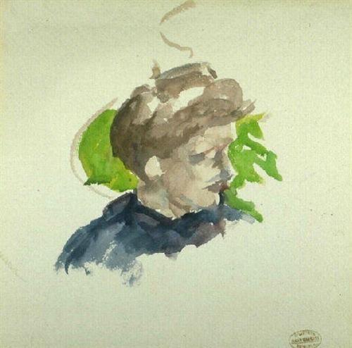 Portrait of young girl - Mary Cassatt