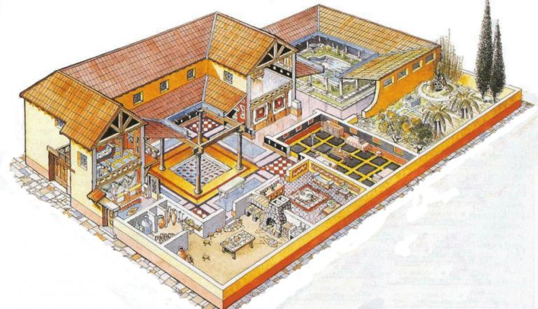 Intricate Mosaic And Underfloor Heating Among Features For Ancient Roman Houses In Britain Ancient Roman Houses Roman House Ancient Greek Architecture
