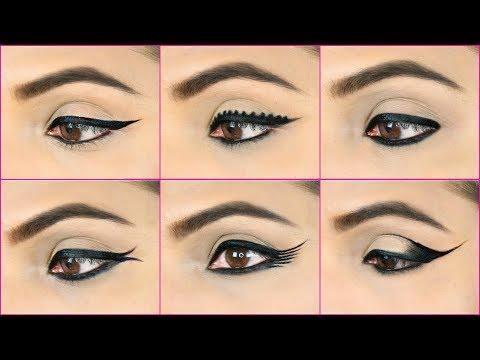 6 Easy Eyeliners Using 1 Kajal Pencil Eyeliner Hacks For