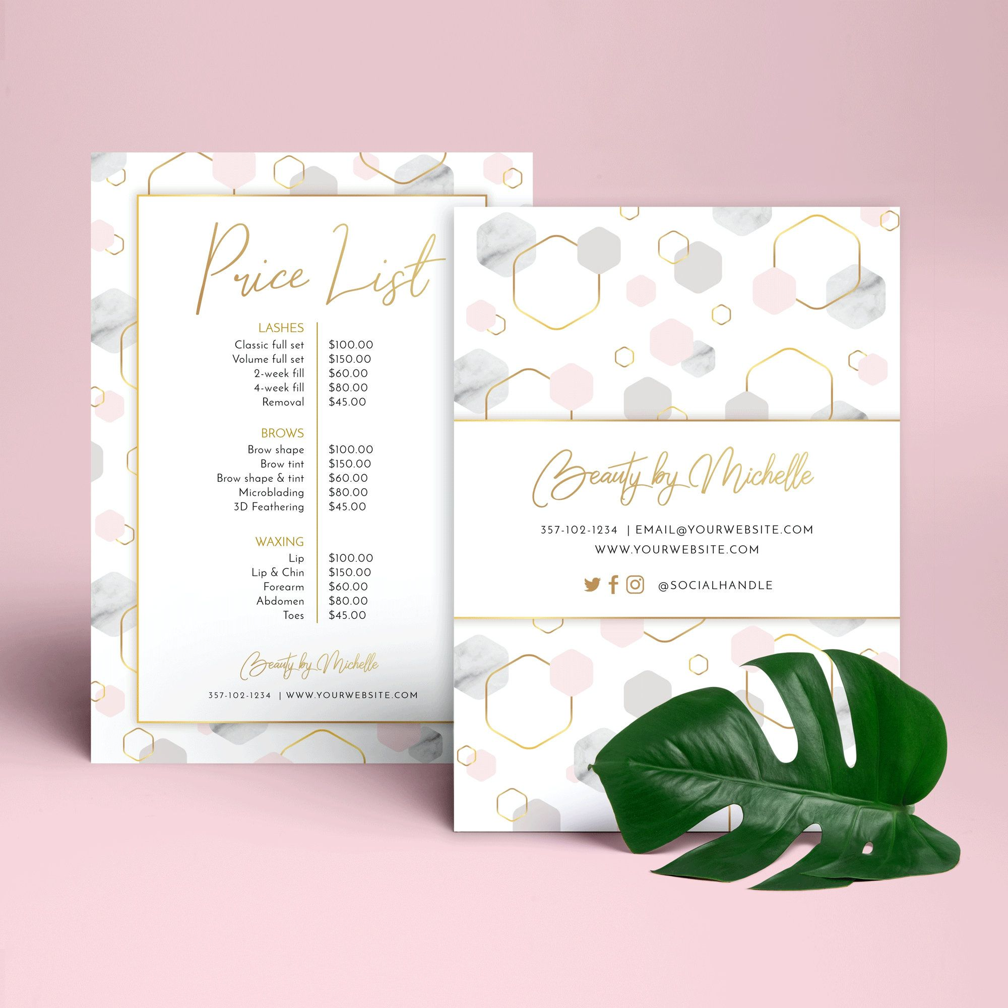 Editable Business Price List Feminine Menu Template Etsy In 2021 Price List Template Photography Invoice Template Nail Tech Business Cards