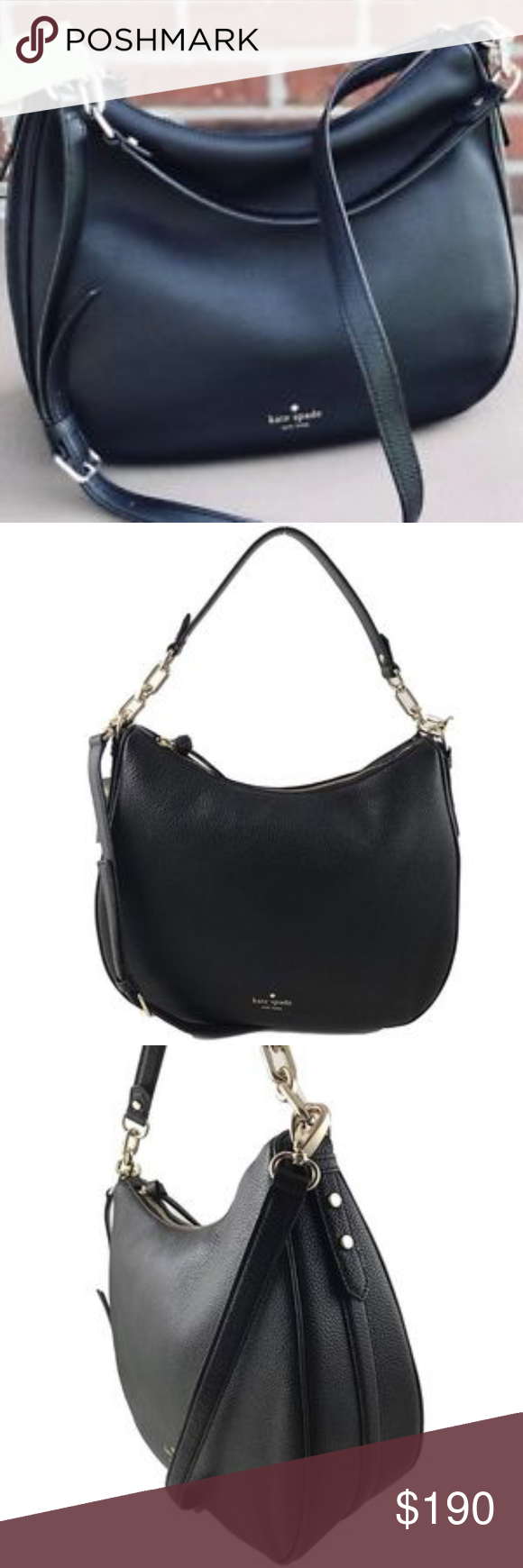 d2ce32064f Kate Spade Vivian Mulberry Street Hobo - NWT VIVIAN MULBERRY STREET LEATHER  HOBO SHOULDER BAG Can